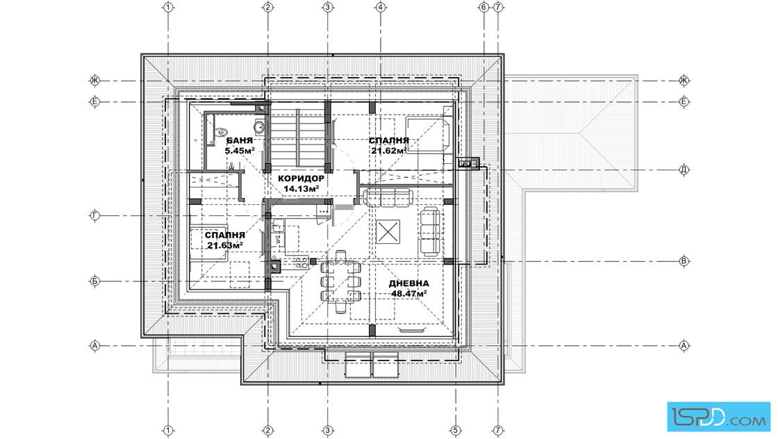 План на подпокривен етаж