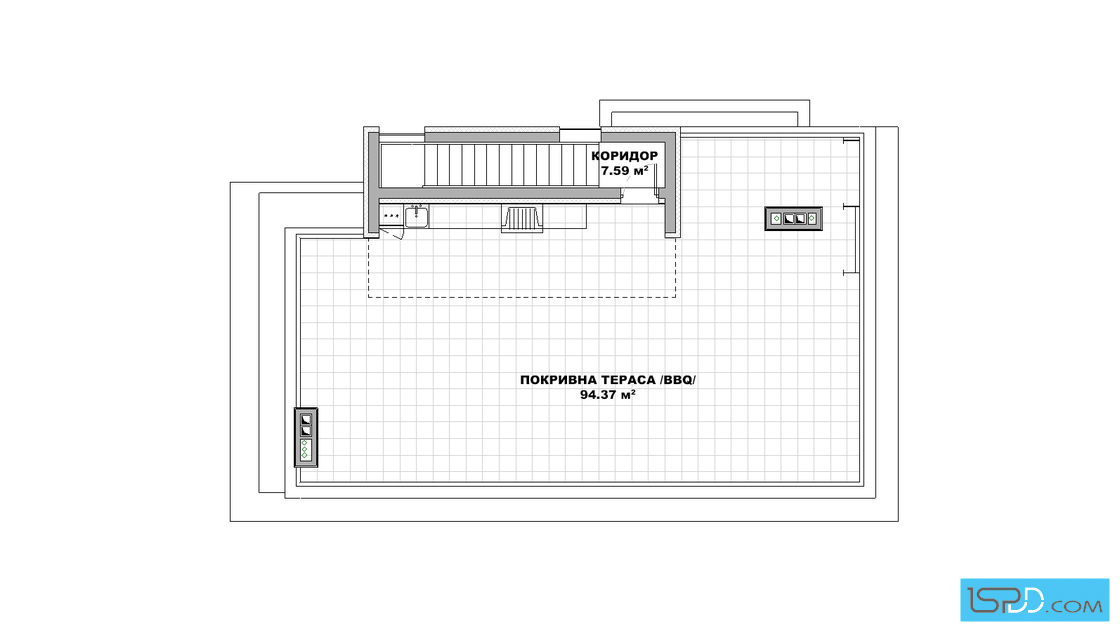 План на покривен етаж