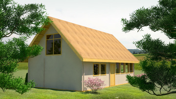 House design 20 - Wooden house