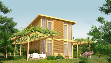 Проект 19 - Дървена сглобяема къща