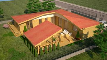 Проект 25 - Дървена сглобяема къща