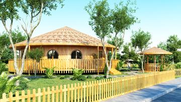 Проект 44 - Дървена сглобяема къща