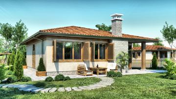 Проект 49 - Дървена сглобяема къща